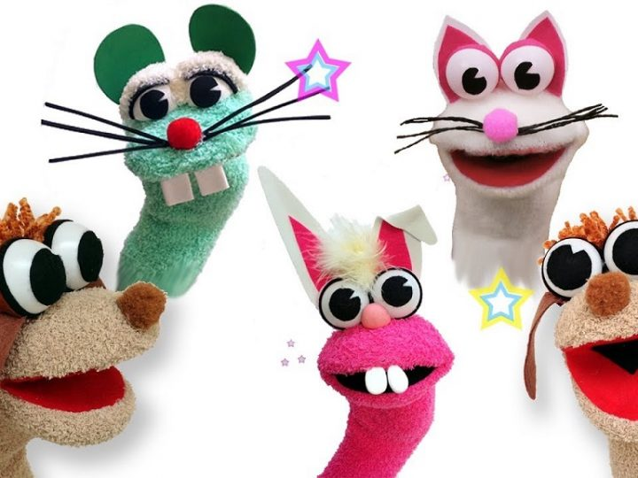How to make a puppet with socks?
